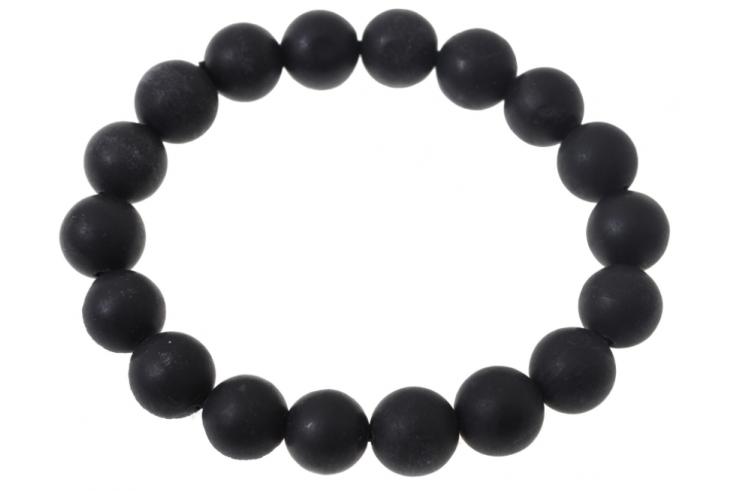 Bracelet Obsidienne, Longue Vie - Pierre 7mm