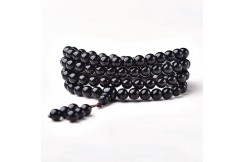 Buddhist Bracelet, Four Wraps - Stone 8 mm