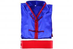 Camisa de Chang Quan imitación de seda con cinturón (Talla 1m90)