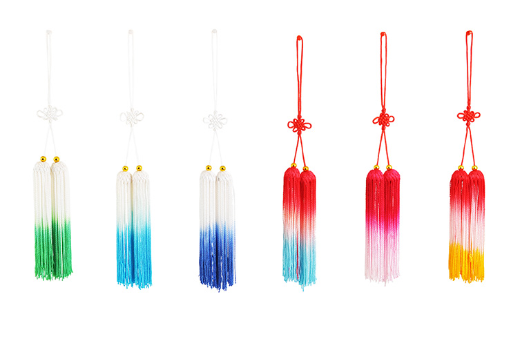 2 short tassels - Red & white & blue